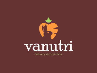 Design de Logotipo (post 2/3) Vanutri Delivery de Orgânicos