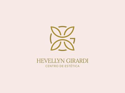 Design de Logotipo - Hevellyn Girardi Estética (post 1/2) design logo design estética dourados ms bruno henris consultoria de marca identidade visual branding logotipo