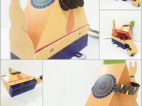 Dj papercraft