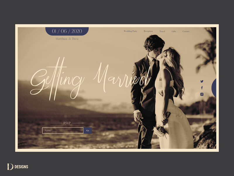 Getting married landing page web design marriage wedding ui website design website design