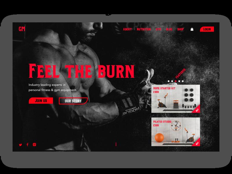 Website design for gym shop shop gym equipment pilates studio gym web design ui website design website design
