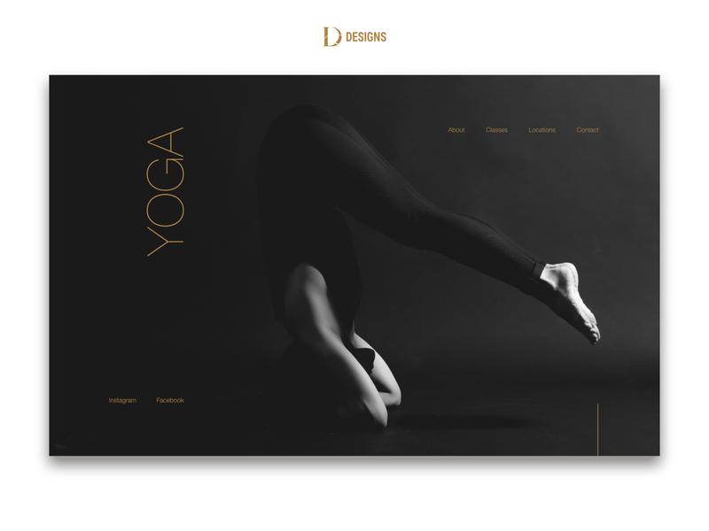 Yoga retreat web design mockup yoga studio retreat yoga ui web design website design website design