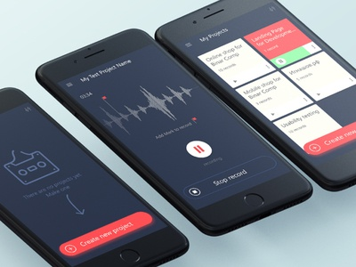 Dictophone for UX-er adobe xd interface uxui mobile