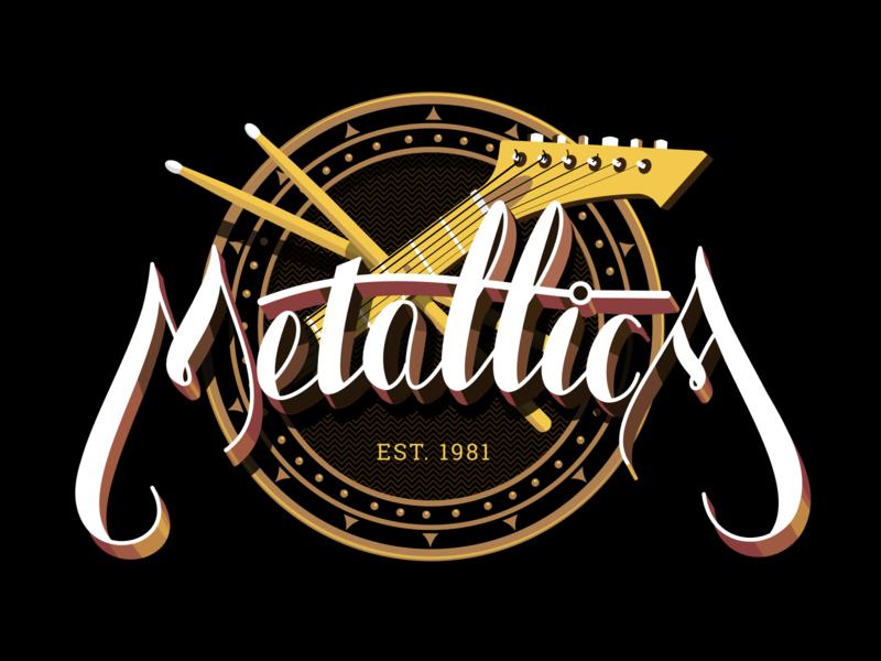 Vintagica logo metallica vintage logo vintage illustration