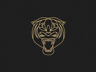 Tiger Hollow illustration outline tiger