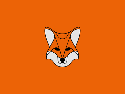 Foxy illustration outline fox