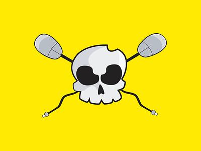 Digital Death vector illustration skull