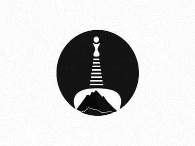Brandmark - DAV summit club & Internation Trekkers nepal illustration vector logo mountain chorten