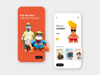 Toy store UI illustration toys design ui