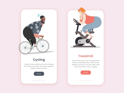 Stay safe, stay healthy exercise exercise app appui app design uidesign ui illustration