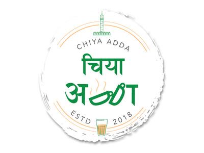 Logo for a Tea Shop called CHIYA ADDA. cheers. graphics typo logo