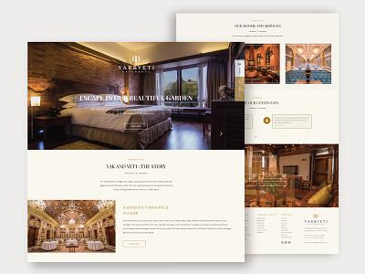 Classy design for a Classy Hotel theme template hotel design ui