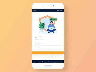 Minimal Login Screen mobile ui minimalism app design design ui
