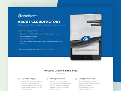 e-book landing page design webdesign minimalism uidesign ui marketing