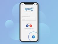 Social app Login Screen Design