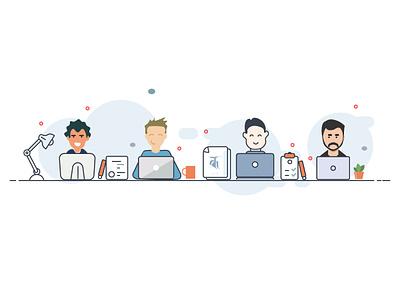 Character design for कर्मशाला(karmashala) guys. graphics artwork characterdesign illustrator