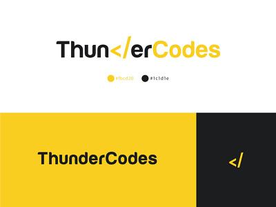 ThunderCodes logo software development logodesign