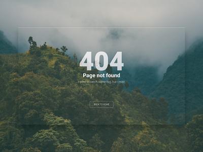 Hey guys, I tried to catch some fog, but I mist.. minimalism nepal nature feel webdesign ux ui