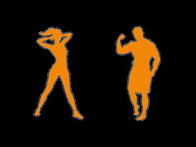 Gym People - Athletes - Two Genders gym yoga pilates female bodybuilder trainer gender athlete male femaile gym person