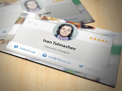 New Business Cards business card ui ux interaction interface
