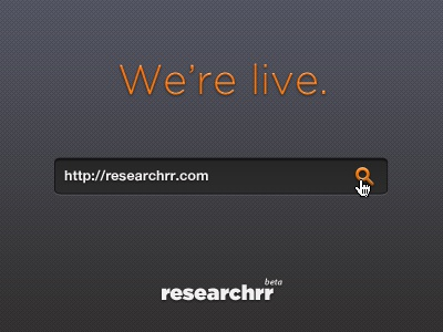 Researchrr is live