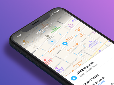 Onfleet iPhone X Tuning logistics delivery map iphone x ios