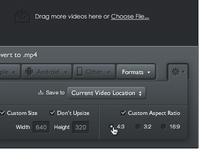 Miro Video Converter Settings