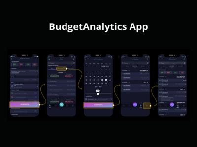 BudgetAnalytics App userflow