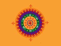 Travel Rangoli Diwali 2013