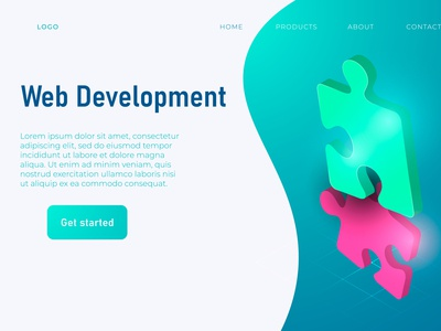 Web Development Header Concept