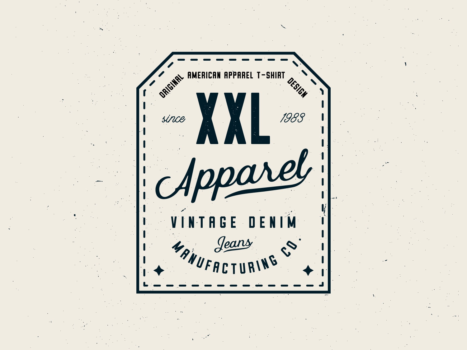 Clothing Label Design typogaphy manufacturing simple retro vintage apparel logo clothing company clothing brand cloth logo badge design apparel label clothing