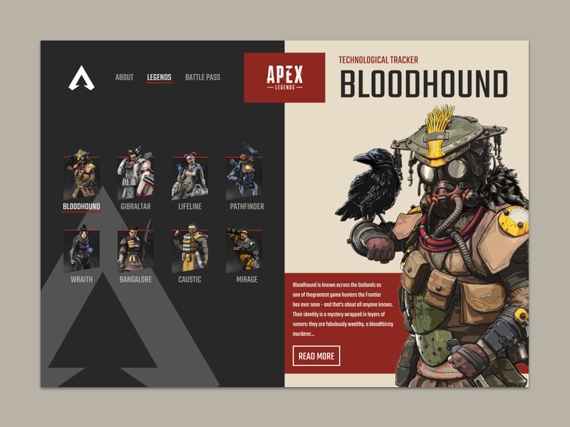 Apex Legends apex legends profile card games character animation characters