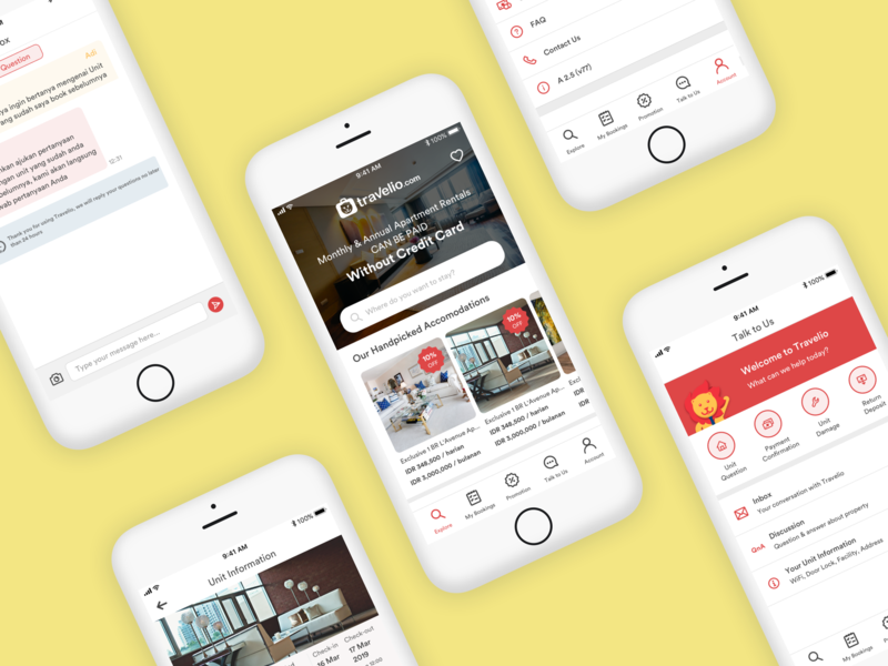 Travelio Mobile App by Deska Setiawan Yusra on Dribbble