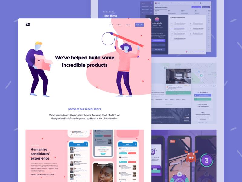 Z1 Branding - Portfolio web ui design web design digital products design inspiration layout z1 website illustration