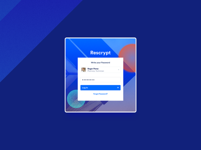 Rescrypt - Login ux ui product design sign in web design login page password authoritation z1 design