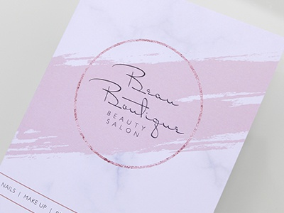 Beau Boutique Branding typography beauty logo branding design logo design logo branding design