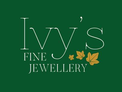 Ivy's Fine Jewellery Logo brand identity logotype typogaphy logodesign branding logo
