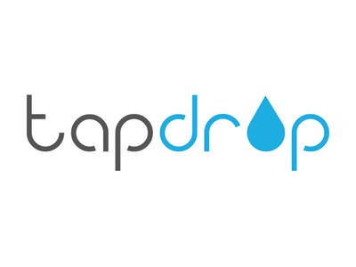 Tapdrop Logo design vector digital brand identity typography logo branding