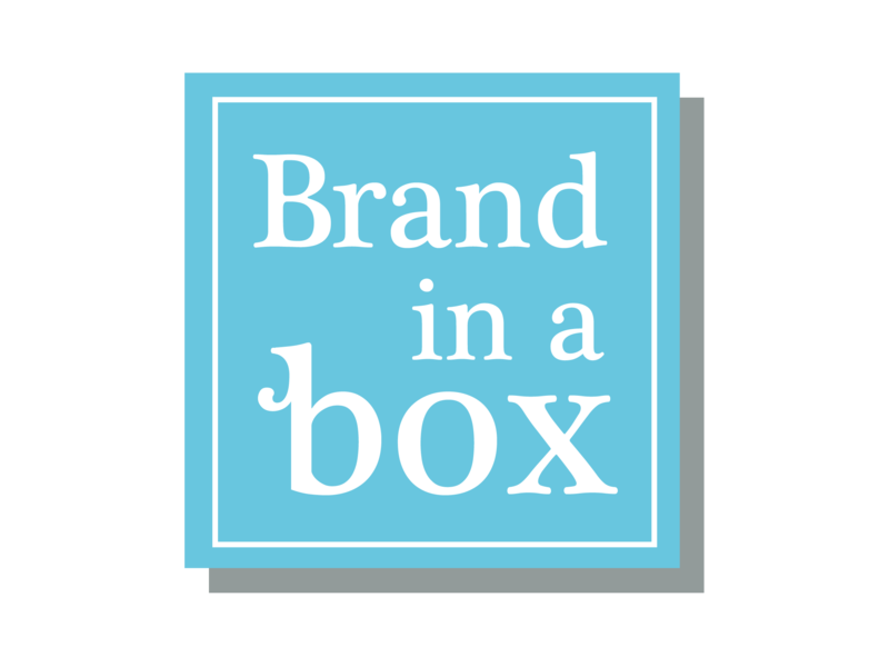 Brand In A Box Logo typography vector design brand identity logo branding