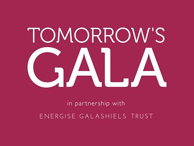 Tomorrow's Gala logo branding typography logo brand identity branding design