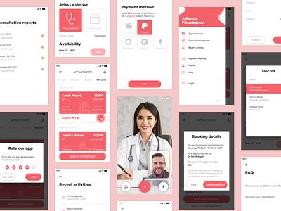 MyClinic - Mobile app iphone ethereum bitcoin blockchain crypto health care health application mobile ux app ui design