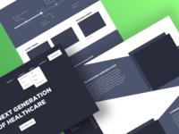 Wireframes for Blockchain Website