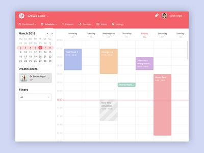 MyClinic - Schedule telemedicine webapplication management system tool management clinic health application webapps website blockchain app ui ux design
