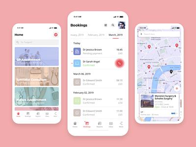 MyClinic - Bookings management tool passport healthcare health app telemedicine crypto health blockchain app ux ui design