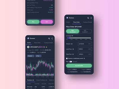 Crypto Trading App platform stock exchange crypto exchange cryptocurrency mobile ethereum bitcoin crypto blockchain app ux ui design