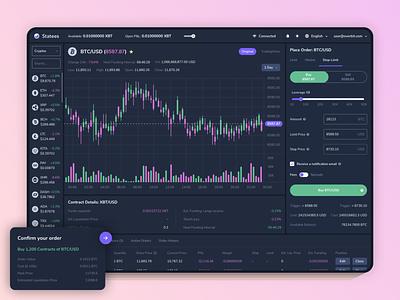 Overbit - Cryptos Exchange Platform stock exchange platform crypto exchange cryptocurrency ethereum bitcoin crypto website blockchain app ux ui design