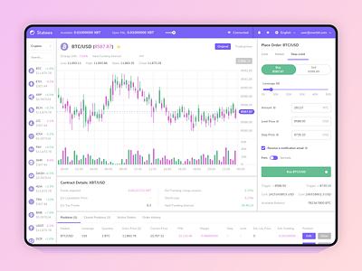 Overbit - Cryptos Exchange Platform stock exchange platform crypto exchange cryptocurrency application ethereum bitcoin crypto website blockchain app ux ui design