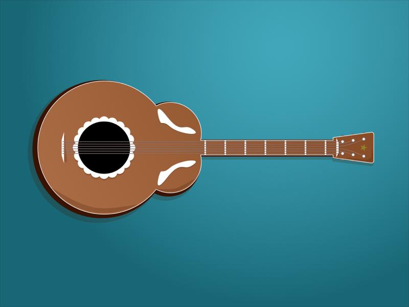 Guitar affinity designer illustration guitar