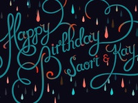 Birthday Card Inverted