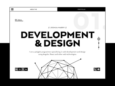 Hello Dribbble! - Portfolio Redesign sacred geometry black and white dribbble hello responsive desktop geometry personal humanist geometric portfolio